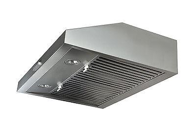 """Stainless Steel 30"""" Range Hood Under Cabinet Kitchen Fan Baffle Filter Stove Fan"""