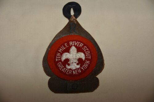 Ten Mile River TMR Ranachqua Camp Patch Felt Greater New York Boy Scouts BSA