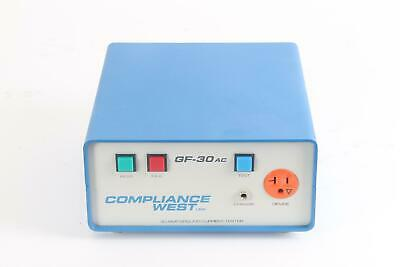 Compliance West Gf-30ac Industrial 30 Amp Ground Current Tester Bench Type