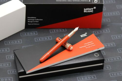 Montblanc Heritage Rouge et Noir Coral Metamorphosis Fountain Pen - UNUSED - EF