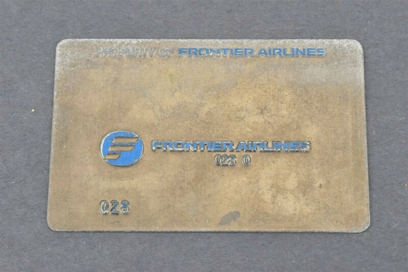Frontier Airlines Validation Plate