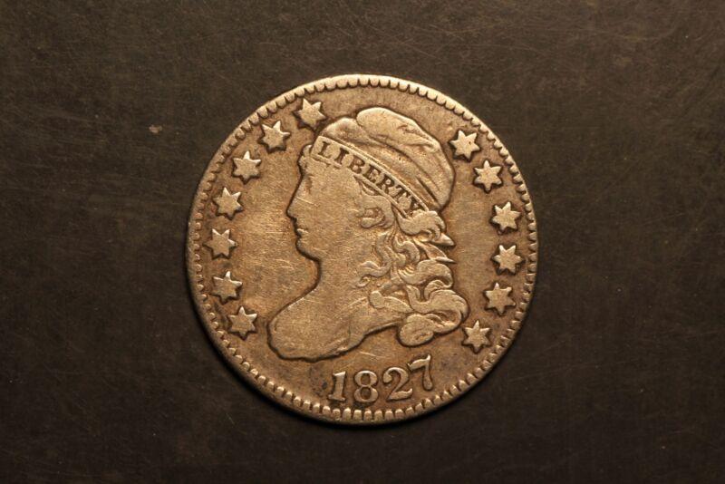 1827 Capped Bust 10c Silver F Fine JR-13 r.3 #JB1-1021