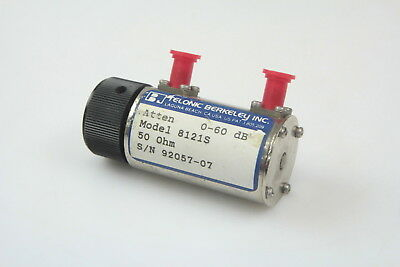 Telonic 8121s Dc To 2 Ghz 0 To 60db 50ohm Variable Rotary Attenuator