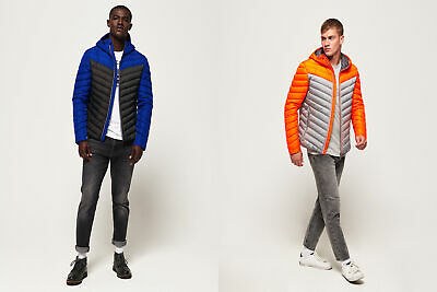 Superdry Mens Chevron Colour Block Down Jacket