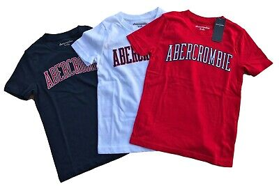 Abercrombie & Fitch Kids Embroidered Logo Tee Short Sleeve T-shirt Boys & Girls