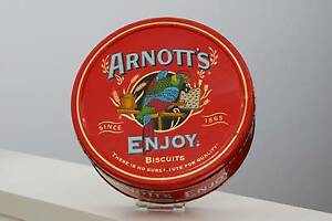 Vintage Arnotts Round Biscuit Tin Mandurah Mandurah Area Preview