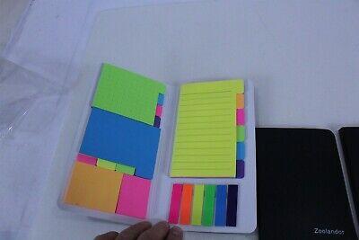 Zoolander Lot Of 3 Sticky Note Folders Black 522 Total
