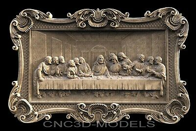 3d Model Stl For Cnc Router Carving Artcam Aspire Da Vincis Last Supper G803