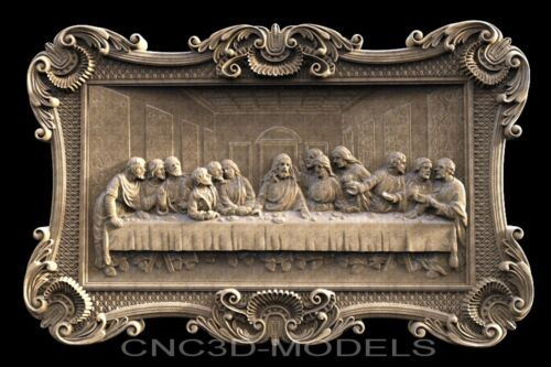 3D Model STL for CNC Router Carving Artcam Aspire Da Vinci's Last Supper g803