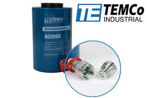 TEMCo Hollow Hydraulic Cylinder Ram 20 TON 2 In Stroke 5 YEAR Warranty