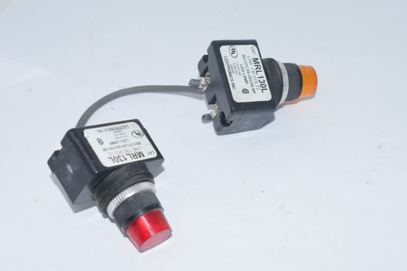 Ledtronics MRL130L Orange Amber & Red LED Pilot Light