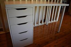 IKEA Desk and Drawers Bayview Pittwater Area Preview