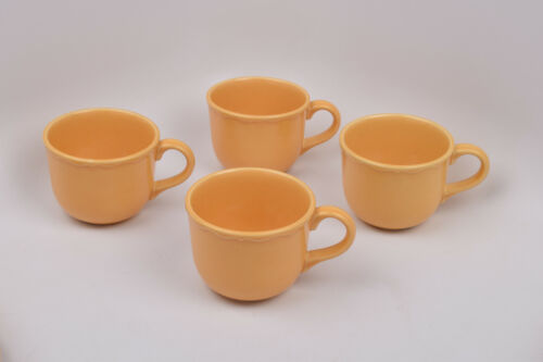 Varages Luberon Yellow France Set of 4 Cups Mugs