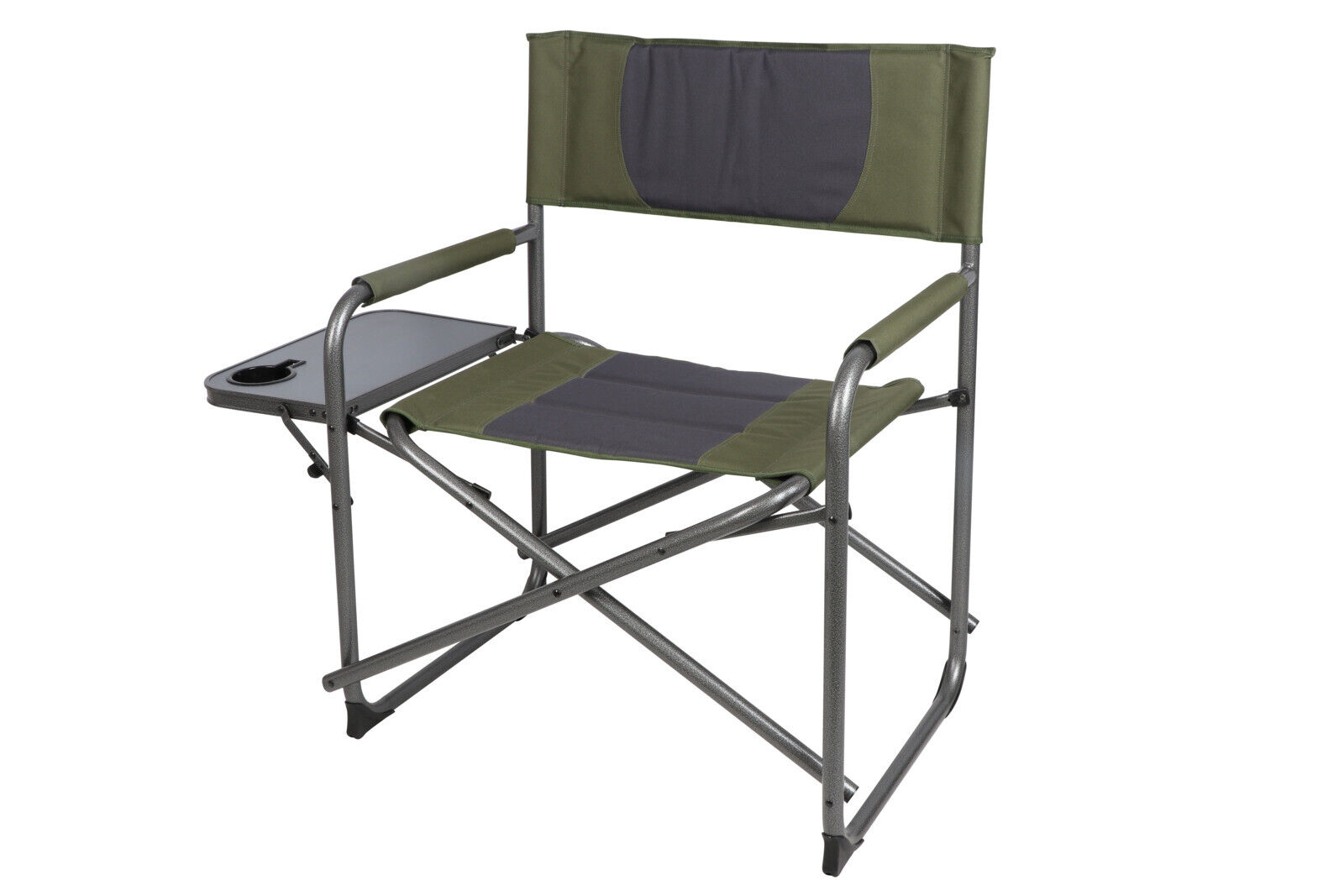 Details About Ozark Trail Oversized Director S Camping Chair With Side Table Green Grey