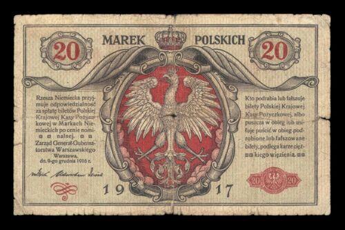 POLAND 20 marek 1916 1917 ORIGINAL