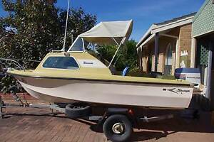 For Sale. Savage Tasman 4.57mt  Boat, motor and trailer complete. West Lakes Shore Charles Sturt Area Preview