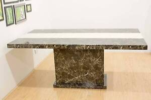 Marble mocha dining table Campsie Canterbury Area Preview