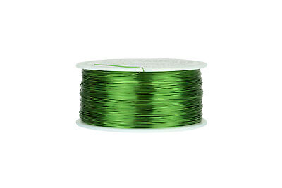 Temco Magnet Wire 26 Awg Gauge Enameled Copper 155c 1lb 1258ft Coil Green