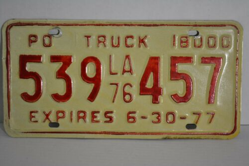 Vintage 1977 Louisiana License Plate 77 LA