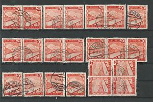 Osterreich-1947-Partie-Schoene-Abstempelungen-40-g-Rote-Landschaften