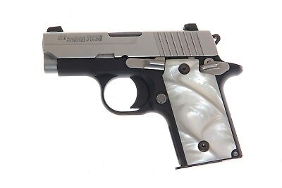 Used, Pearl Grips For Sig Sauer P238 plus 4 Sig screws IMOP Mother of Pearl for sale  Hiawassee