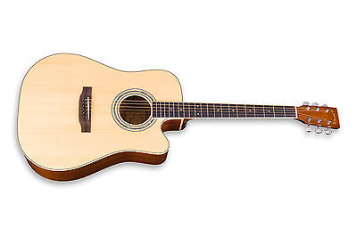 Zager EZ-Play ZAD50CE Natural Acoustic Electric Guitar