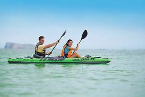 Intex Challenger K2 Inflatable Kayak Canoe 2 Person Includes Oars Clayton South Kingston Area Preview