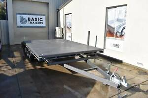 Beaver Tail 18x8 Flat-Top Car Trailer (Locally Made) Holden Hill Tea Tree Gully Area Preview