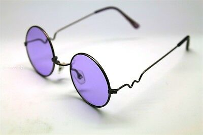 PURPLE ROUND SUN GLASSES PURPLE FRAMES TRIGUN VAMPIRE COSPLAY STEAM PUNK HIPPIE