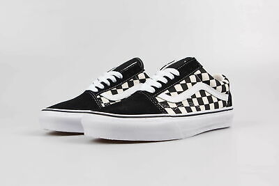Vans Old Skool Skate Classic black white checkerboard men and women canvas shoes