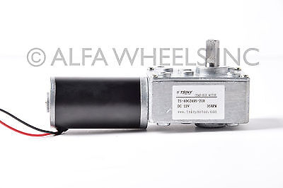 High Torque 12v Reversible 55 42 Rpm Dc Worm Gear Small Right Angle Motor