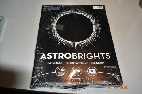 "Paper Astrobrights Colored Cardstock 8.5"" X 11"" 65 Lb/176 Gsm Eclipse BLACK 100"