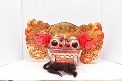 """Rangda Balinese Mask Bali Barong carved wood bali Dragon LARGE 17.5"""""""