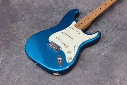 1993 Fender Japan ST57 Stratocaster Electric Guitar MIJ (Blue)