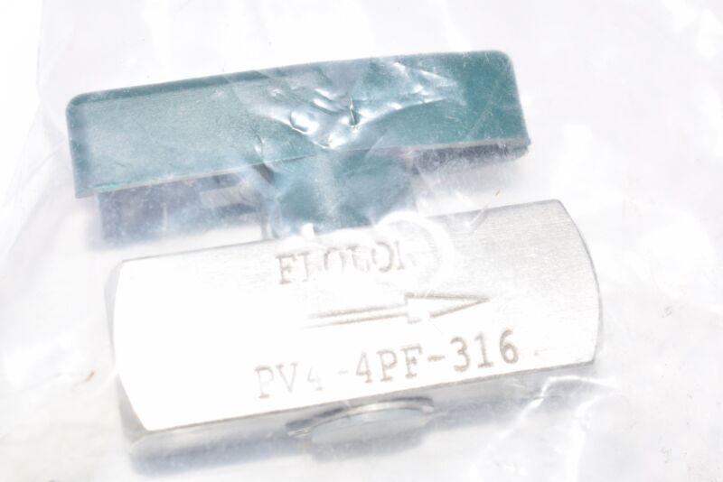 NEW FloLok, Part: PV4-4PF-316, Plug Valve, 1/4F