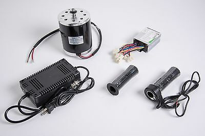 500w 36v Electric 1020 Motor Kit W Speed Control Throttle Charger F Scooter Mx
