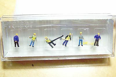 Z scale Preiser SIX Railroad Track Worker with Tools FIGURES 88513