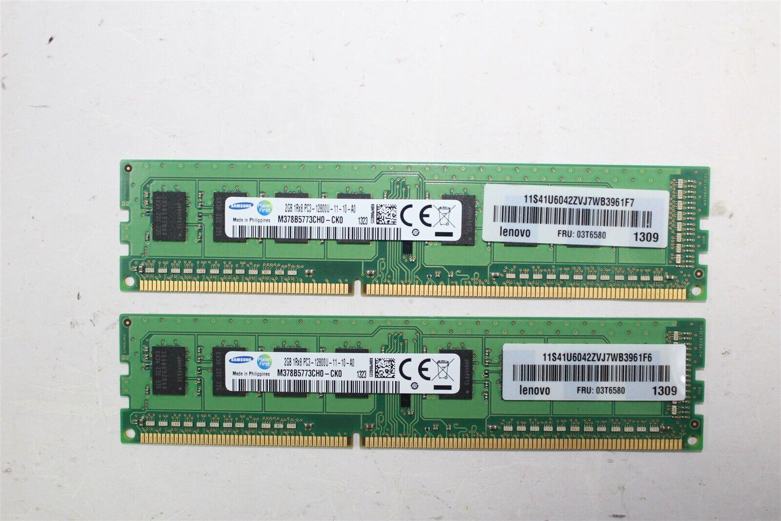 Working Pull!! Lot of 10 Samsung DDR3 PC3 12800U desktop RAM 40GB Total