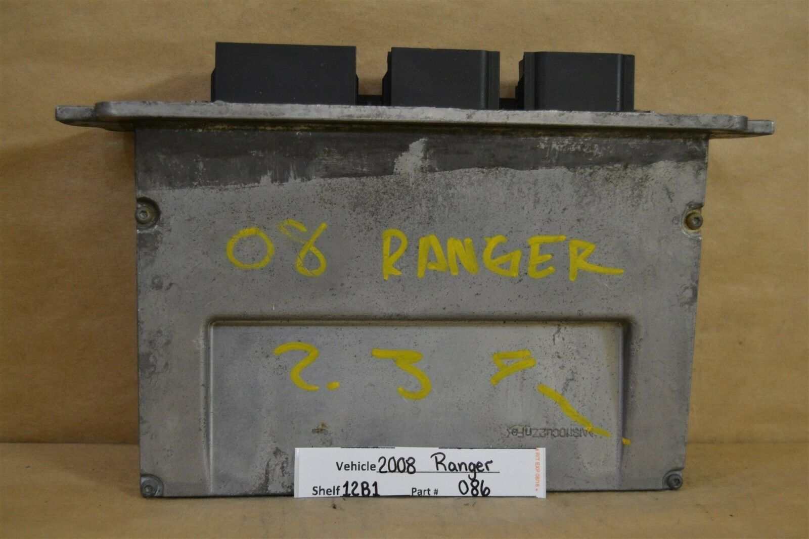 2008-2011 Ford Ranger 2.3 AT Engine Control Unit ECU 8L5A12A650TD Module 86 12B1