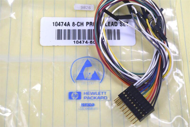 HP Hewlett Packard 10474A 8-Ch. Probe Lead Set