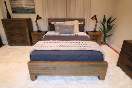 Superb Reclaimed Timber Brighton Queen / King Bed - New