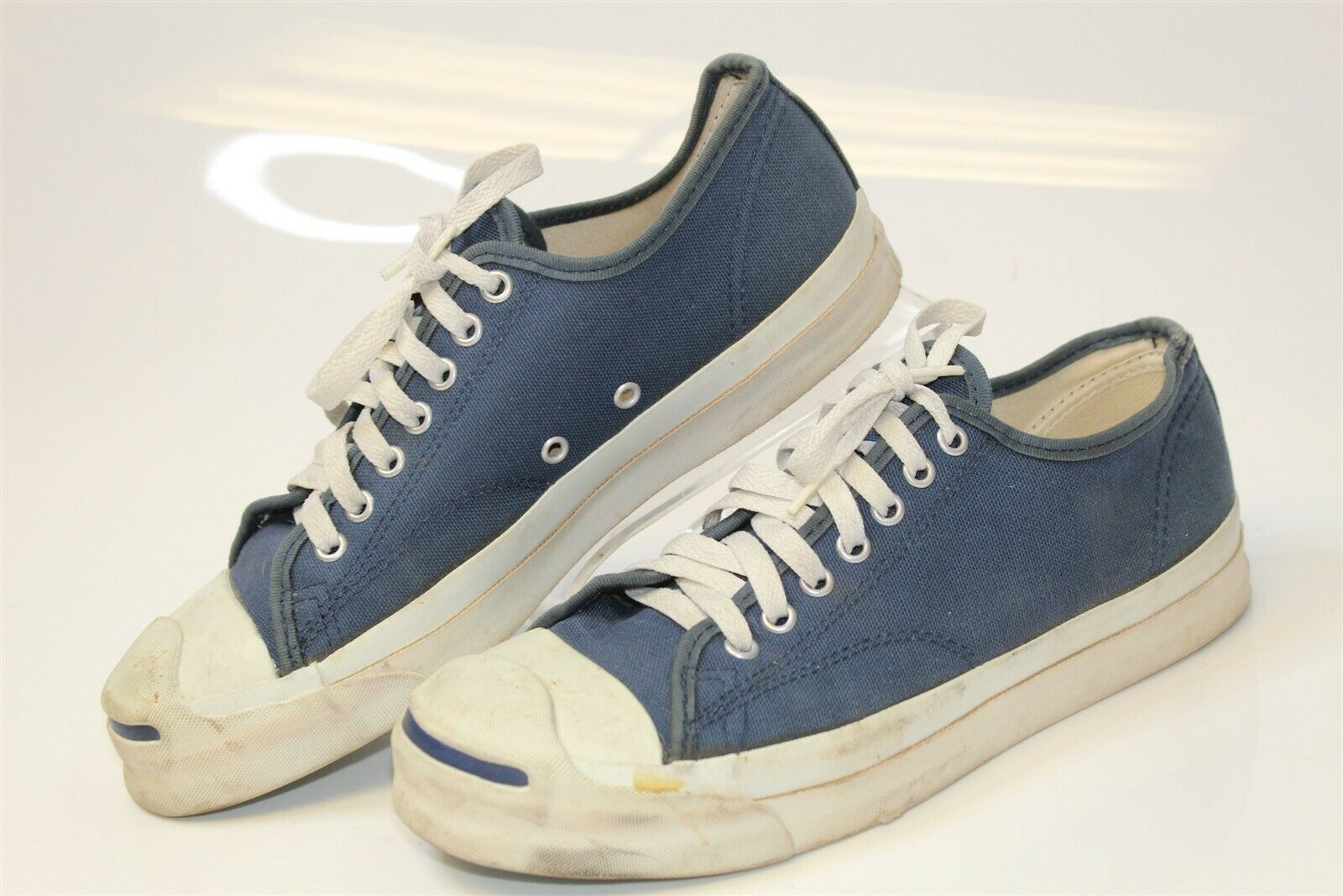 Converse Jack Purcell Vintage OG Mens 9 Navy Canvas Sneakers Shoes MADE IN USA