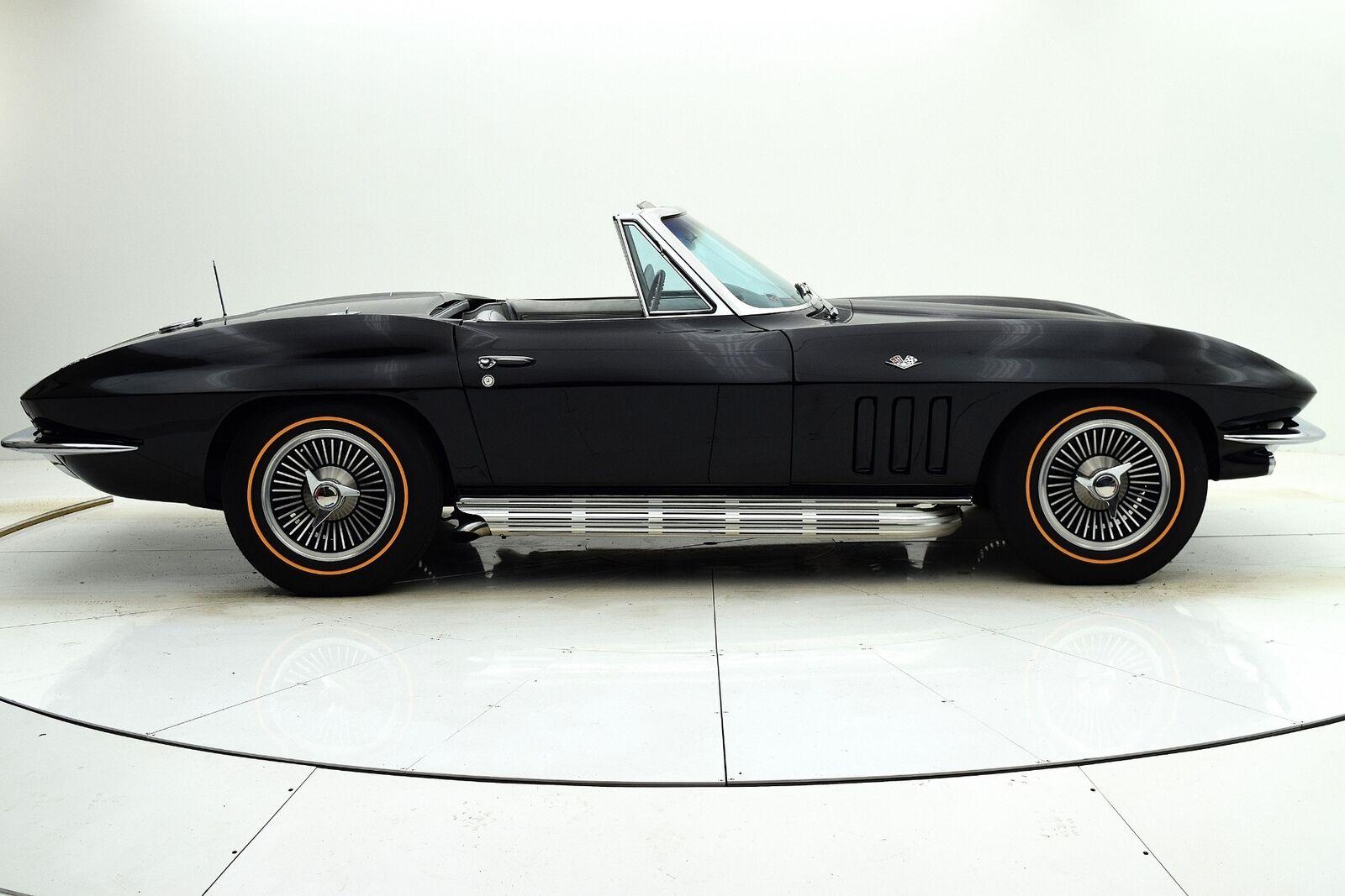 1966 Black Chevrolet Corvette Convertible  | C2 Corvette Photo 7