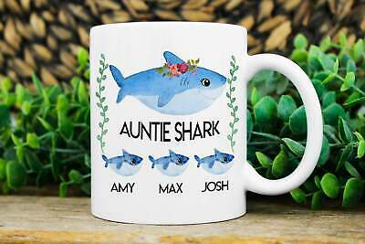 Aunt Gifts Christmas Gift For Aunt Auntie Shark Mug Aunt Christmas Gift Birthday ()