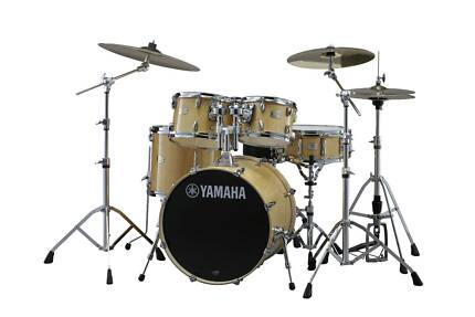 Drum Kit - Yamaha Stage Custom incl Hardware and Cymbals