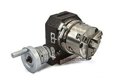 5059- Rundtisch Teilapparat Rundteiltisch HB 100 Horiz. Verti. m. 3 Backenfutter