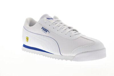 Puma Scuderia Ferrari Roma Mens White Motorsport Low Top Sneakers Shoes