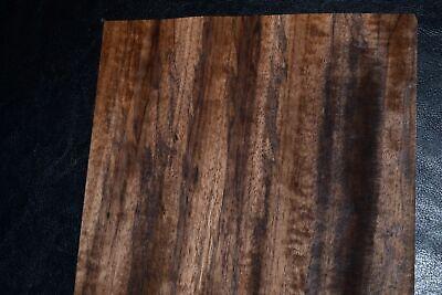 Fumed Etimoe Raw Wood Veneer Sheets 7 X 30 Inches 142nd  F8636-39