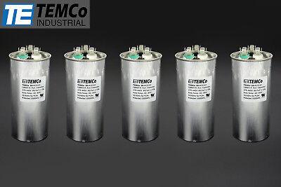 Temco 805 Mfd Uf Dual Run Capacitor 370 440 Vac Volts 5 Lot Ac Motor Hvac 805