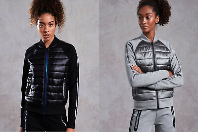 Superdry Womens Core Gym Tech Hybrid Bomber Jacket